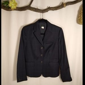 J CREW navy blue wool blazer